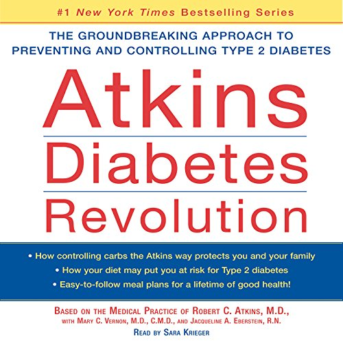 Atkins Diabetes Revolution audiobook cover art