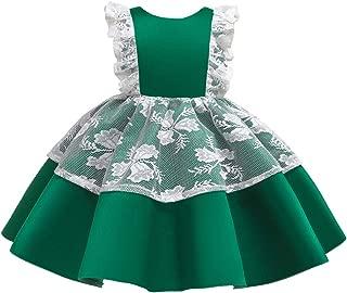 HUAANIUE 女婴盛会婚纱无袖派对礼服