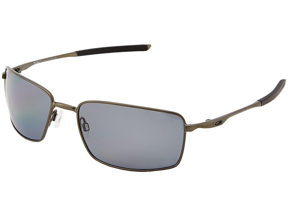 Oakley Square Wire (Carbon w/ Grey Polar) Sport Sunglasses, Gray