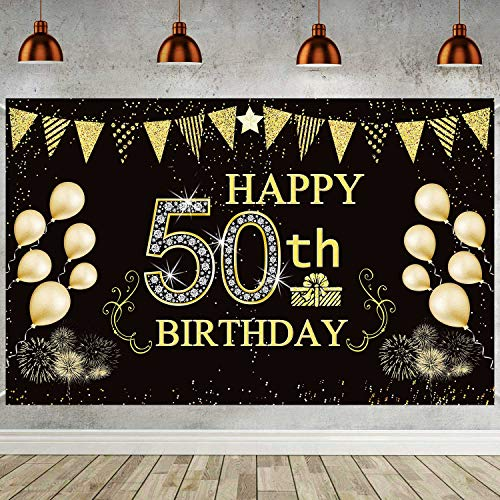 Best black and gold party decorations 50th birthday for 2020