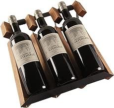 Mostrador De Mostrador De 3 Botellas, Estante De Vino, Madera ...