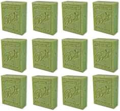 Bela Bath & Beauty, Eucalyptus with Lemon, Lime & Petitgrain, Triple French Milled Moisturizing Soap Bars, No Harsh Ingredients, 3.5 oz each - 12 Pack