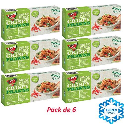 Pack de 6 GAMBAS CRUJIENTES VEGETALES 250g | Fry's Family Foods | Vegetariano | Vegano | Alto en proteínas | Sin Carne | Congelado