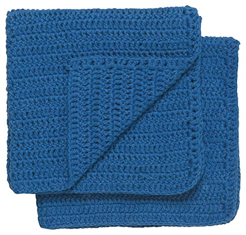 Now Designs Homespun Dishcloths Royal Blue Set of 2