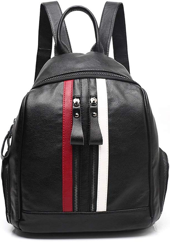 HYF Women's Soft Leather Tote Shoulder Bag Capacity Tassel Handbag (color   Black, Size   Onesize)