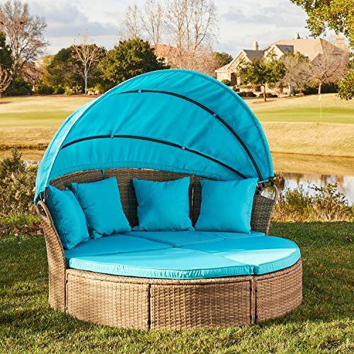 M&W Patio Furniture Round Outdoor Daybed