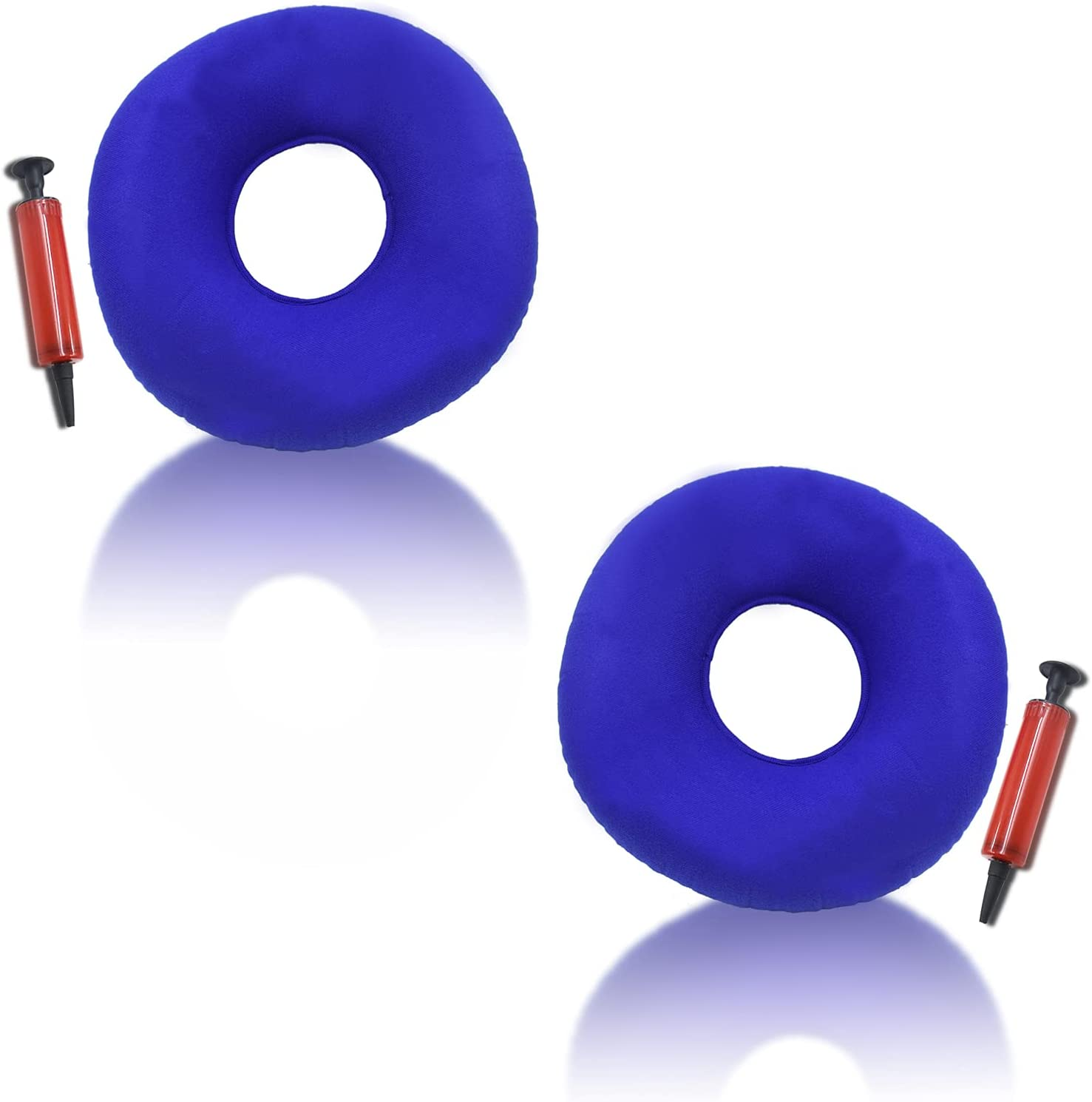 2 Pack Inflatable Ring Cushion with Pillo Seat Popular standard Pump Hemorrhoid A Super-cheap