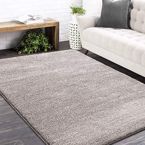 Color&Geometry Weicher moderner Teppich im Shag-Bereich für Wohnzimmer im Innenbereich , Schlafzimmer Dekoration Teppich, Kindergarten Bodenmatte Teppich (beige,200X300CM)