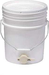 Little Giant Plastic Honey Bucket Bucket with Honey Gate for Beekeeping (5 Gallon) (Item No. BKT5)