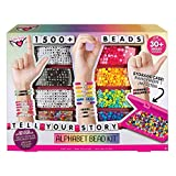 Fashion Angels Tell Your Story Alphabet Bead Set-1500+Beads- Bracelet Gift Set, Brown/a (12381)