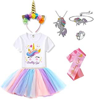 Unicorn Costume Birthday Outfits for Girls - Jewelry, Headband, T-Shirt, Tutu – Unicorn Gifts
