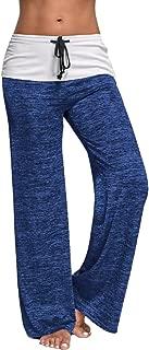 Womens Wide Leg Pants, Ladies Drawstring High Waist Long Loose Casual Pants Yoga Trousers Palazzo
