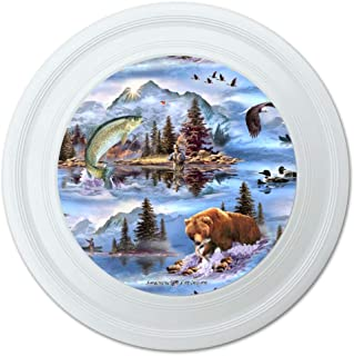 """GRAPHICS & MORE Mountain Fly Fishing Bear Stream Lake Fish Novelty 9"""" Flying Disc"""