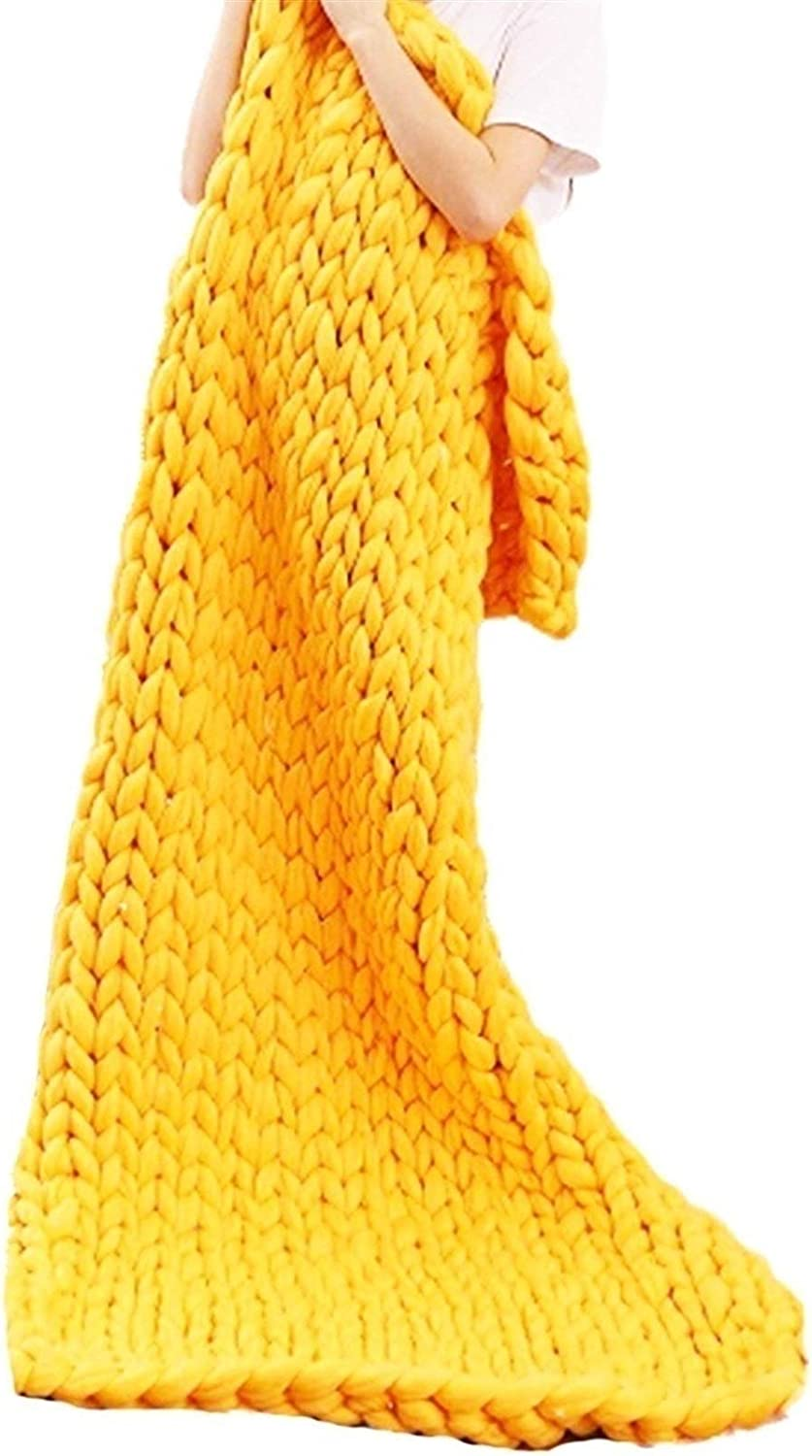 ZCXBHD Chunky Hand Knitted service Conditioning Blanket Throw Challenge the lowest price of Japan ☆ Air