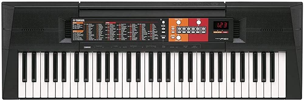 Yamaha digital keyboard psr-f51 tastiera digitale con 61 tasti display a led