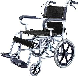 ZZR Foldable Transport Wheelchair with Handbrake 16