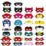 QH-Shop Superhelden Masken, Filz Masken Superhero Cosplay Party Masken Halbmasken mit Elastischen...