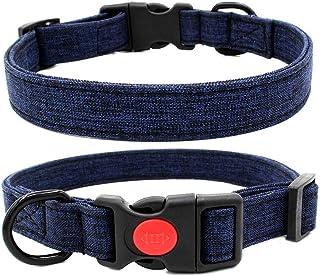 Newtensina Lona Collar de Perro Retro Collar de Perro con Hebilla de Bronce M Estilo Indio Nativo