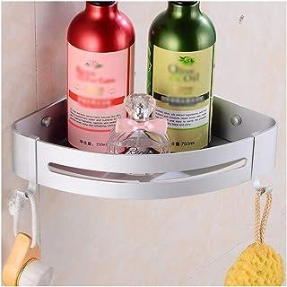 Étagère d'angle Douche Salle de bains étagère d'angle, étagères de douche, Antirouille aluminium avec 2 crochets, montage ...