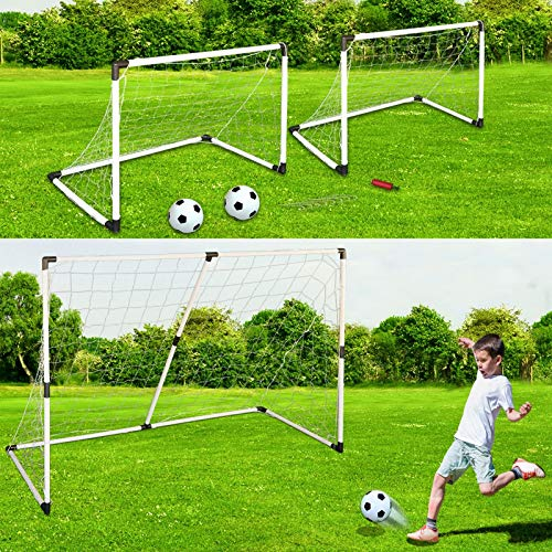 Rexco 6Ft Large 2 in 1 Football Net Large Soccer Goal Posts...