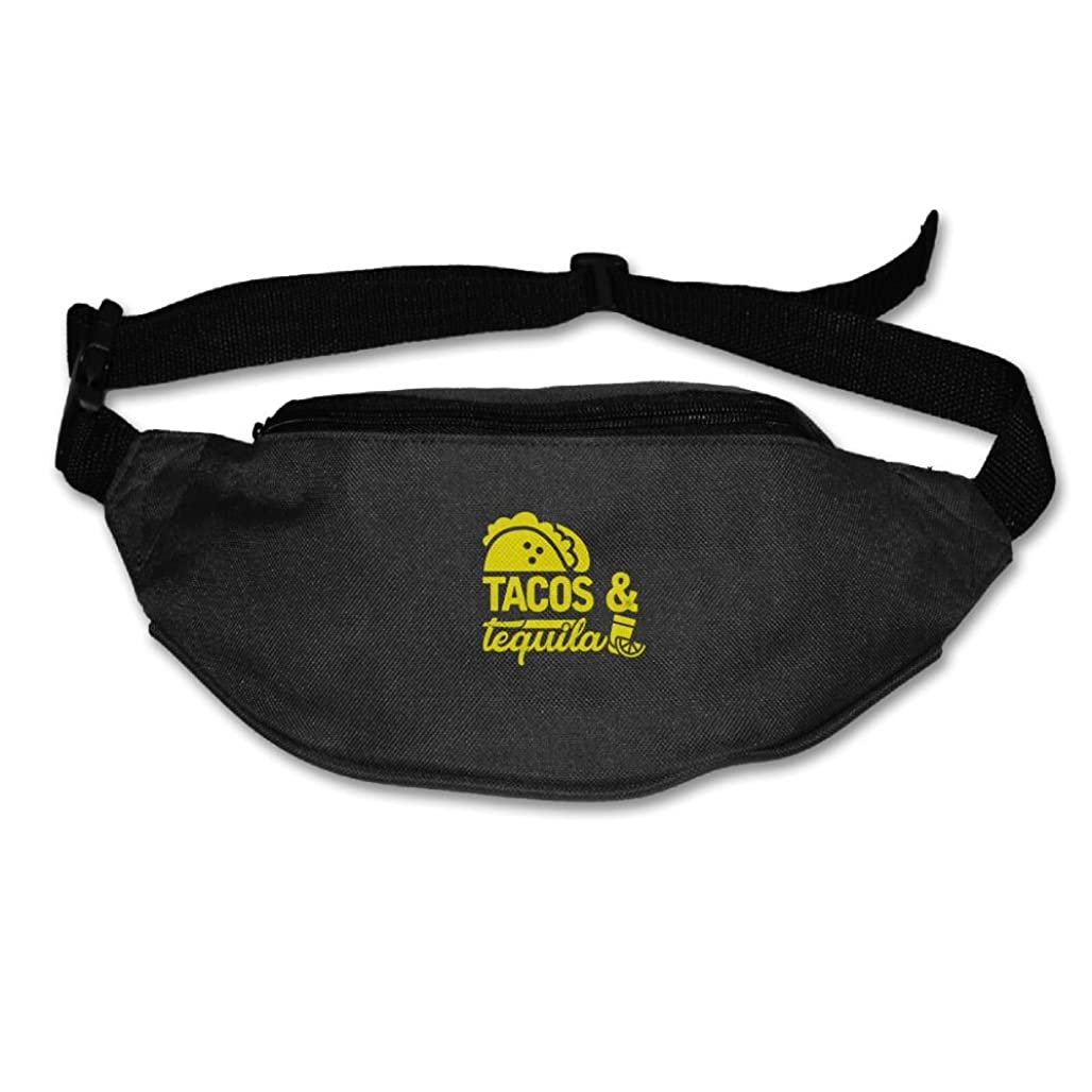 Xxh Fanny Pack Waist Tacos And Tequila Sport Bag For Outdoors Workout Cycling mqdpl7160
