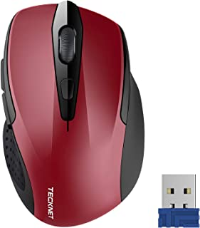 TeckNet Pro 2.4G Ergonomic Wireless Optical Mouse with USB Nano Receiver for Laptop,PC,Computer,Chromebook,Notebook,6 Butt...