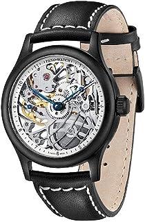 Zeno Watch Basel - Zeno-Watch 4187S-bk-2 - Reloj de pulsera para hombre (talla mediana), diseño de esqueleto, color negro