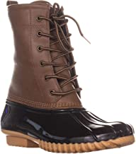 sporto Womens Ariel Faux Leather Ankle Rain Boots Tan 8.5 Medium (B,M)