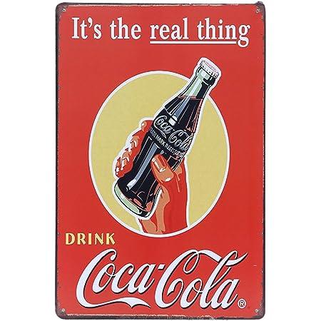 Coca Cola rétro vintage rouille Grunge SIGNE Liège Tasse Assiette dessous de verre napperon