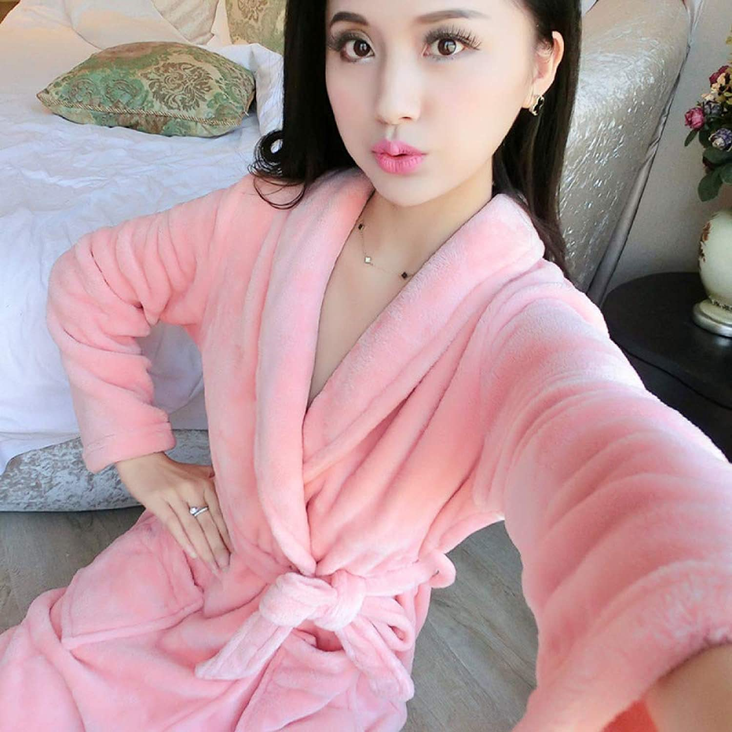Women's Pajamas Autumn and Winter Suit Bathrobe Thick LongSleeved Home Clothes Printing,9XL