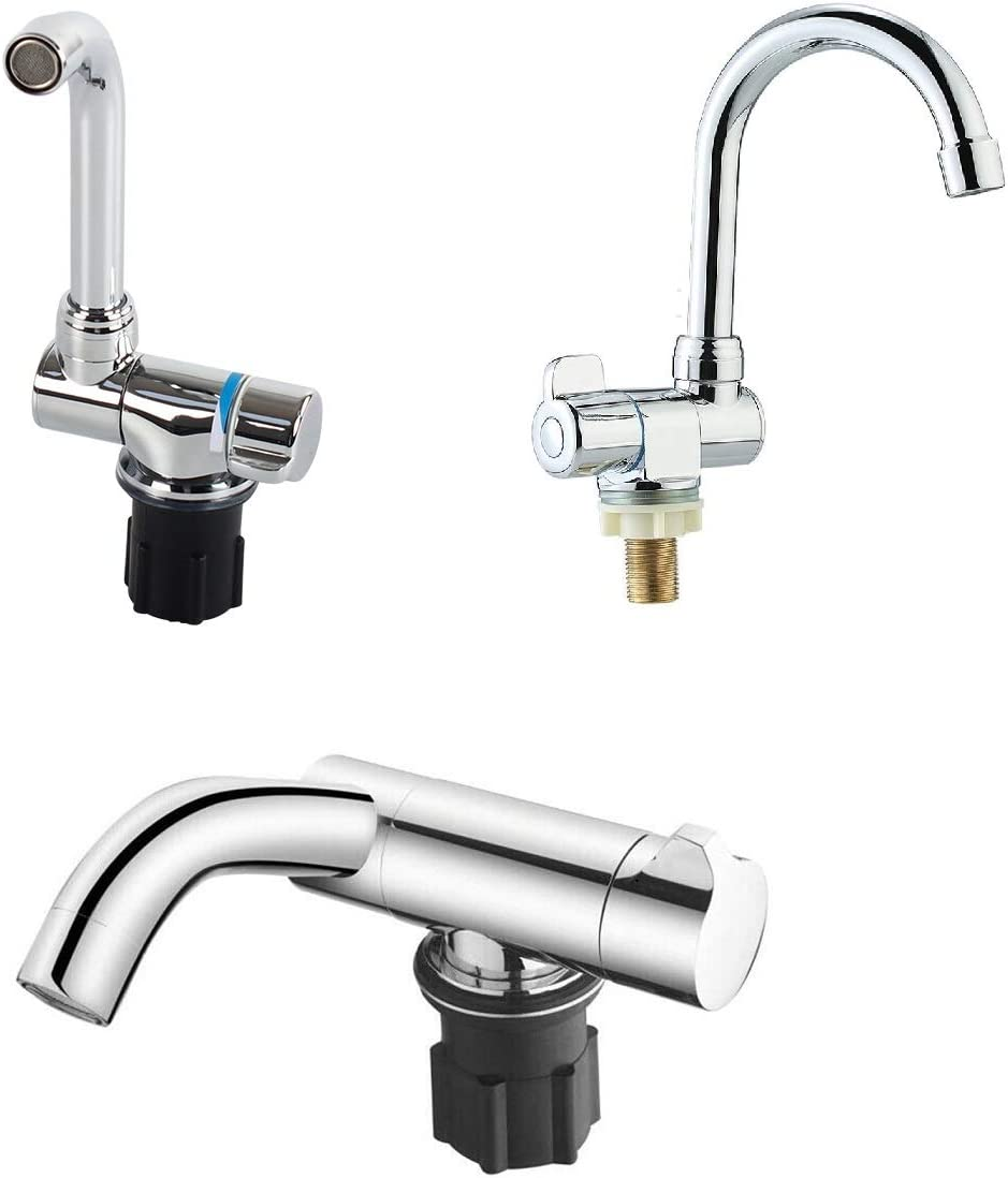 Chrome Brass Camper Trailer Travel RV Lowest price challenge Caravan Faucet Folding Sin Same day shipping