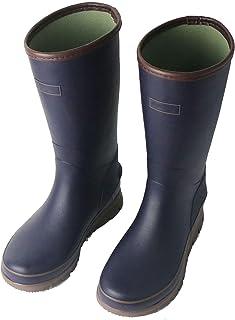 LINGZE Bottes de Pluie imperméables pour Hommes, Chaussures d'eau légères en Caoutchouc, Noir/Bleu
