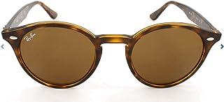 Ray-Ban Men's Plastic Man Round Sunglasses, Dark Havana, 51 mm