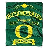 Northwest University of Oregon Ducks 50x60 inch Royal Plush Raschel Blanket Throw