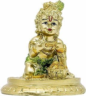 Hindu Baby Krishna Statue - Indian Small Krishna God Figurines for Home Puja Mandir Idol Temple Pooja Murti Buddha Religio...