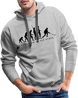 Evolution Never Stops Hockey sur Glace Sweat-Shirt /à Capuche Premium pour Hommes