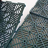 Générique Caillebotis Plastiques - Vendus par 5 Vert 1,5 cm