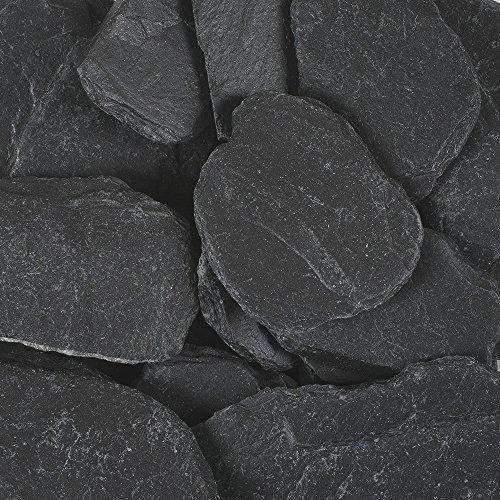 SCHIEFER 40-70mm. 1000 Gramm / 1 kg. Naturschiefer Steine gebrochen ANTHRAZIT
