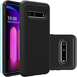 LG V60 ThinQ Case, LG V60 Case with HD Screen Protector,Giner Dual Layer Heavy-Duty Military-Grade Armor Defender Protecti...