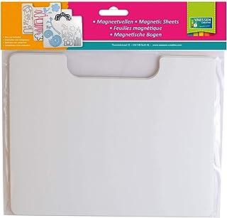 Vaessen Creative 3 Hojas Magnéticas Blancas, 18x23cm, Organizar y Almacenar Plantillas de Corte Metálicas, Adornos y Otros...