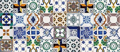 Laroom Alfombra Vinílica de Cocina Diseño Ceramic Patchwork, Vinilo Antiliscante, Multicolor, 65x150...