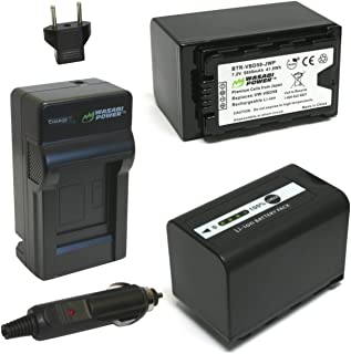 Wasabi Powerバッテリーと充電器for Panasonic vw-vbd29、vw-vbd55、vw-vbd58、vw-vbd78