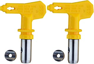 Jewboer 2 Pack Reversible Spray Tip Nozzle for Airless Paint Spray Guns and Airless Sprayer Spraying Machine (415)