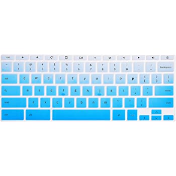 "HP Chromebook 14"" Keyboard Cover Skins Compatible with HP 2-in-1 14"" Touchscreen Chromebook,HP Chromebook X360 Touchscreen,HP Chromebook 14-DA 14B-CA Series(Ombre Blue)"