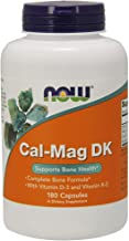 NOW Supplements, Cal-Mag DK with Vitamin D-3 and Vitamin K-2, Supports Bone Health*, 180 Capsules