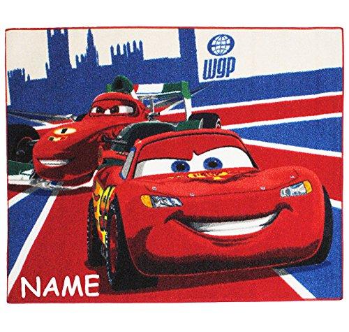 alles-meine.de GmbH Teppich / Spielmatte -  Disney Cars - Lightning McQueen & Francesco  - incl....