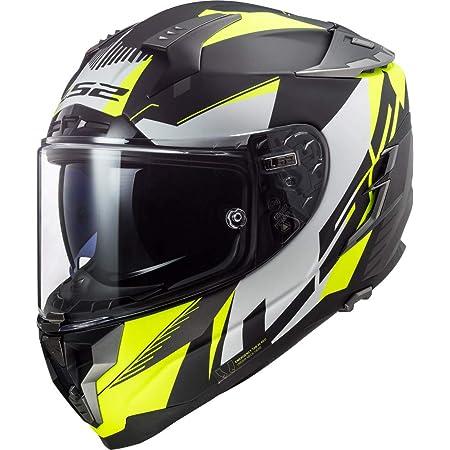Ls2 Herren Nc Motorrad Helm Schwarz Weiss Fluo S Auto