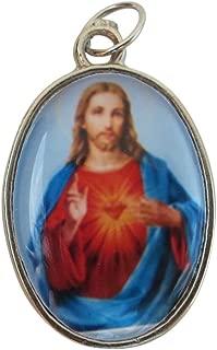 Angelitos de Mexico Sacred Heart of Jesus with Our Lady of Mount Carmel Medal Medalla del Sagrado Corazón y la Virgen del Carmen