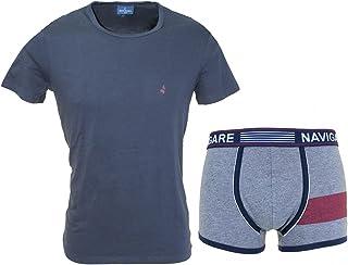 Navigare Men's Underwear Set T-shirt Elastic Boxer