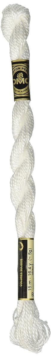 DMC 115 3-BLANC Pearl Cotton Thread, White, Size 3